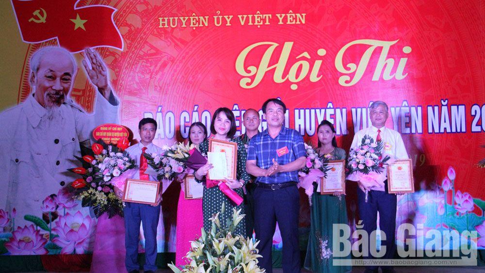 Việt yên, báo cáo viên, hội thi