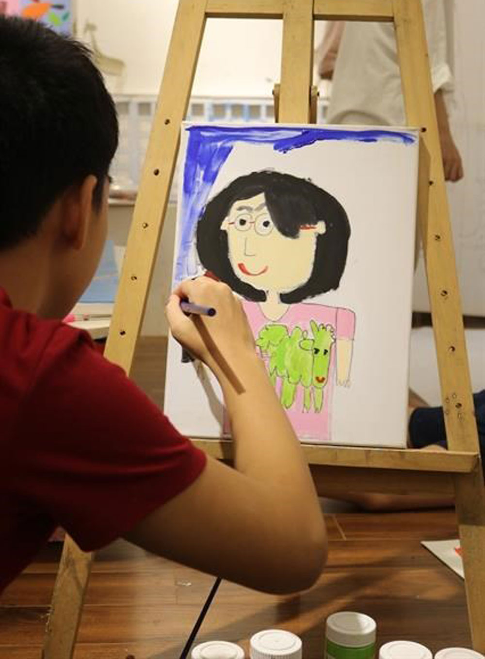 Exhibition showcases, art works, autistic children, children with autism, Khong Thoi Gian, No Time, lifestyle products