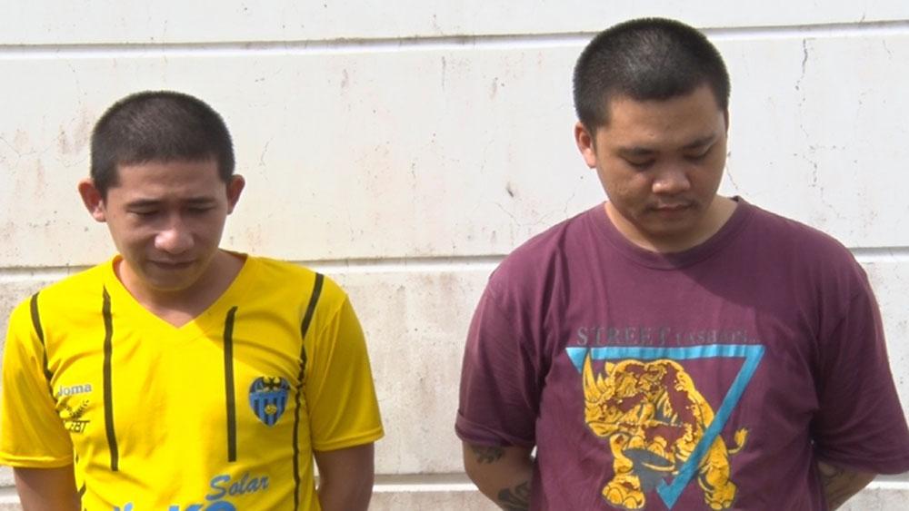 Công an, tóm gọn, hai tên trộm, nhờ định vị điện thoại bị mất, Nguyễn Văn Vương, Nguyễn Trần Quốc Uy