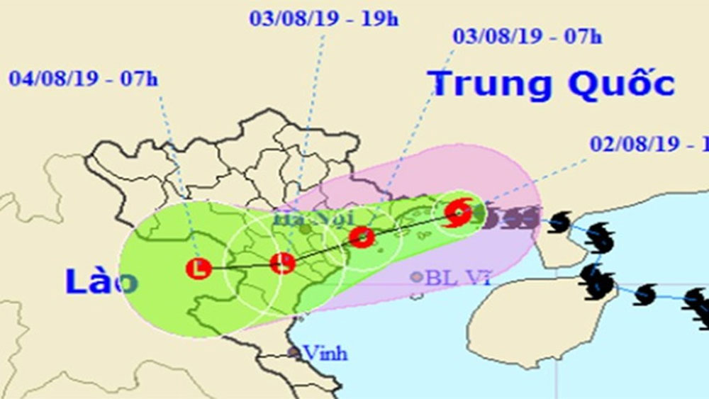 Tin bão mới nhất, Bão số 3 Wipha, đổ bộ Móng Cái, trút mưa lớn, Bắc Bộ