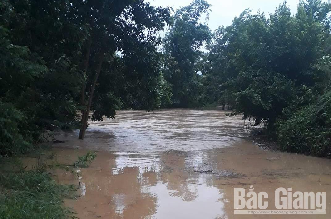 mưa bão, bão số 3,  Bắc Giang, ngập ngầm, tràn