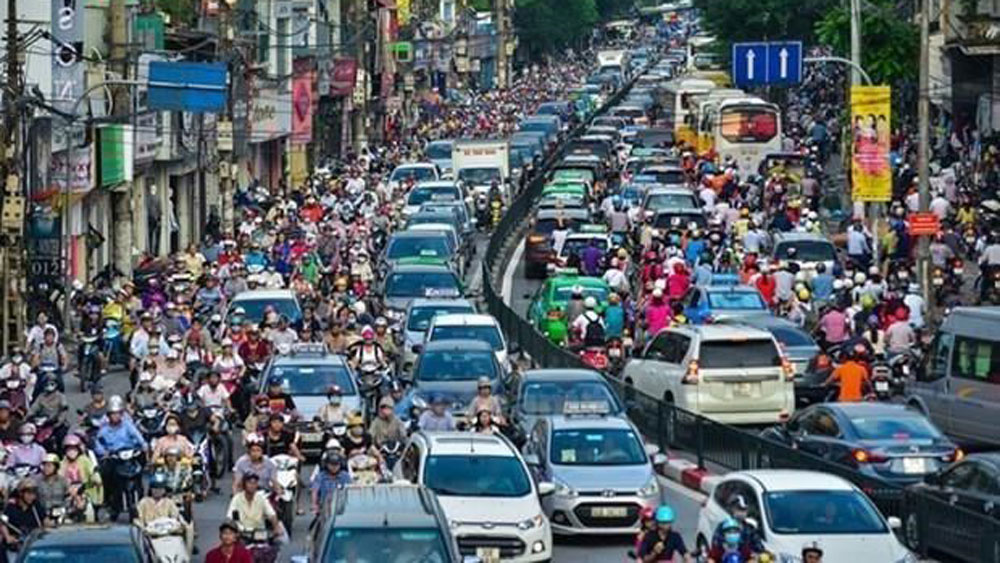 Hanoi, digital traffic map, transport management, information technology, transport sector, busy routes