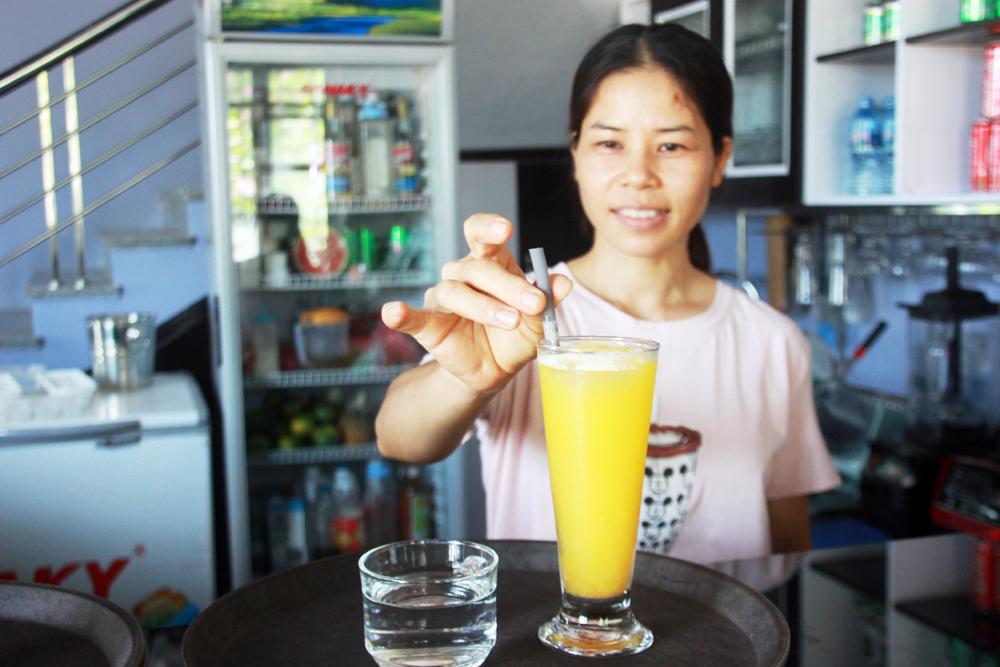 rác thải nhựa, túi nilon, lối sống xanh, Bắc Giang, bảo vệ môi trường, trà sữa GGEM TEA, ống hút rau, củ, quả