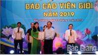 Hội thi báo cáo viên giỏi Đảng bộ Khối DN tỉnh: Thí sinh ở Đảng bộ Công ty Điện lực Bắc Giang giành giải Nhất