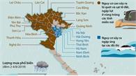 Nguy cơ cao xảy ra lũ quét và sạt lở đất, ngập lụt ở nhiều tỉnh miền núi khu vực Bắc Bộ và Bắc Trung Bộ