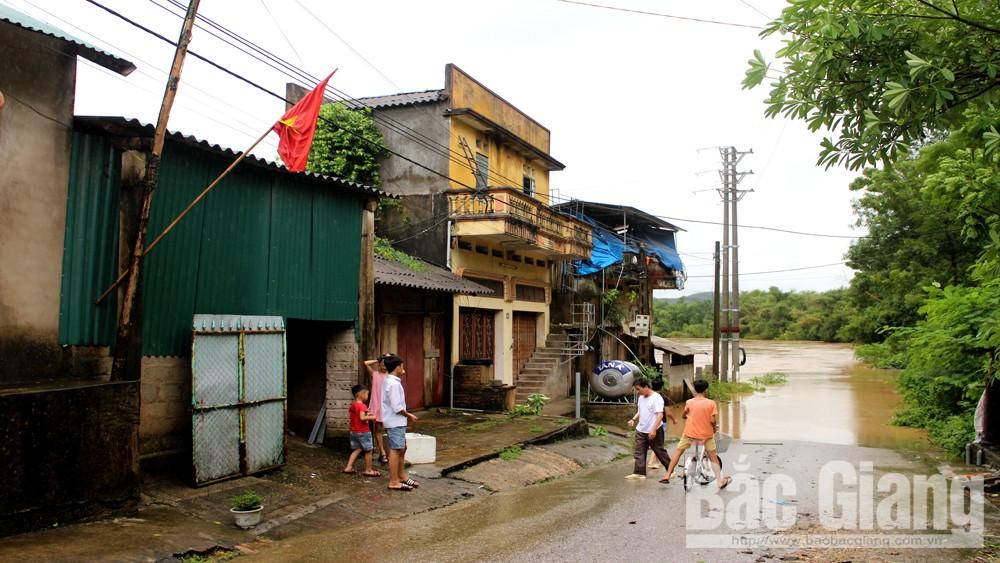 Sơn Động, Mưa bão, khiến 22 thôn, bị chia cắt, cục bộ