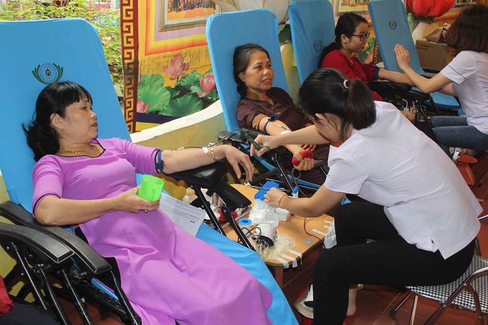 Vietnam Buddhist Academy, bood donation festival, Vietnam Red Cross Society, Vietnam Buddhist Sangha, organ donation, organ transplantation