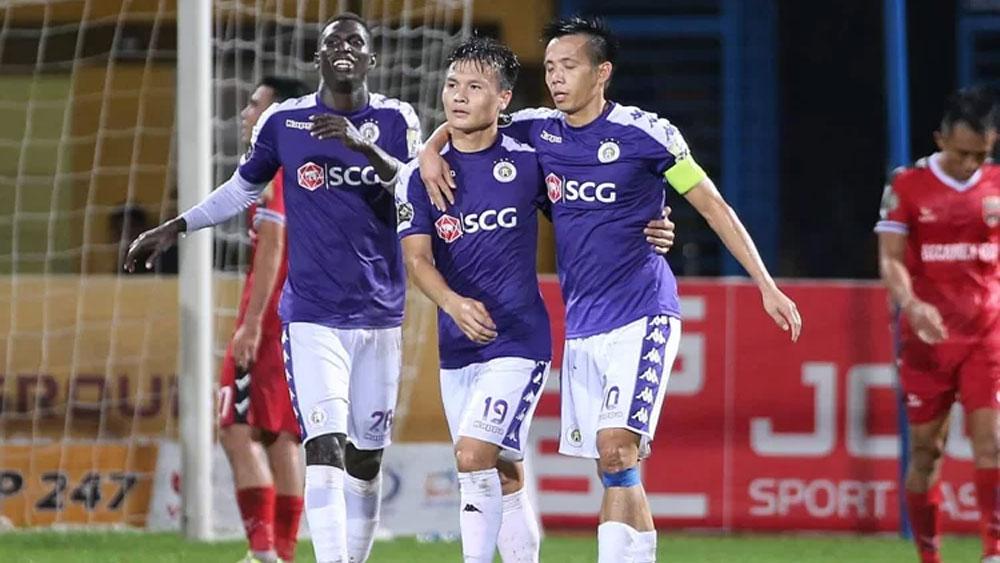 Quang Hải và Văn Quyết đưa Hà Nội trở lại đỉnh bảng V-League