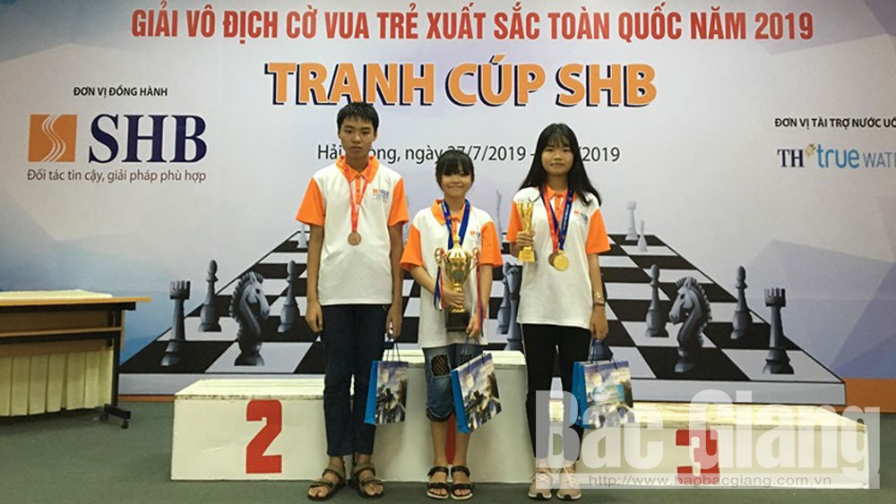 Thể thao Bắc Giang, môn cờ vua, giành huy chương, giải trẻ toàn quốc