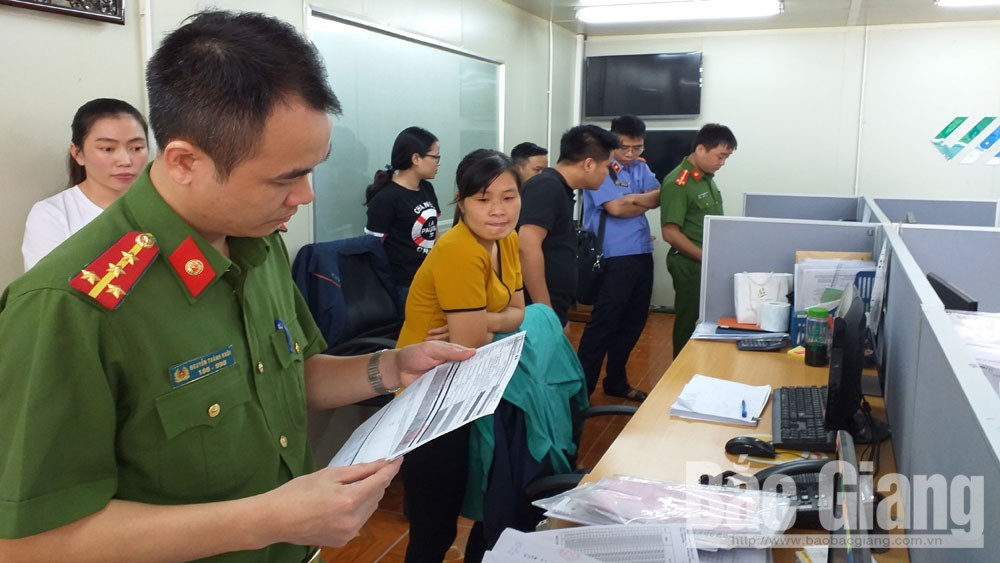 công an, hóa đơn, mua bán hóa đơn, Công ty TNHH JN Global, Công ty TNHH Trường An 19, Công an tỉnh Bắc Giang