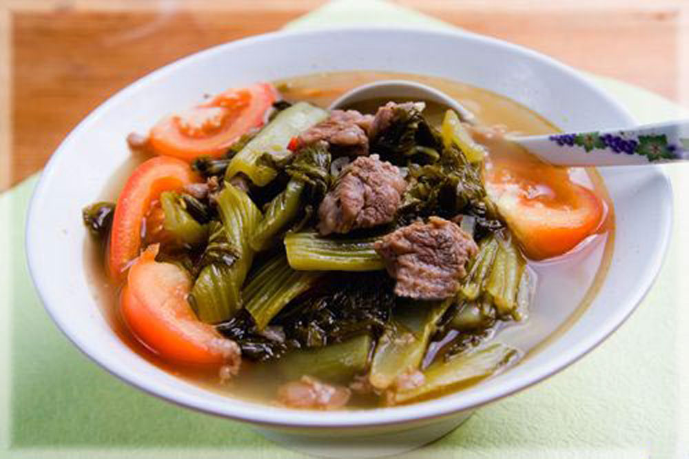 Pickled mustard greens, popular side dish, Vietnamese people, Dua muoi