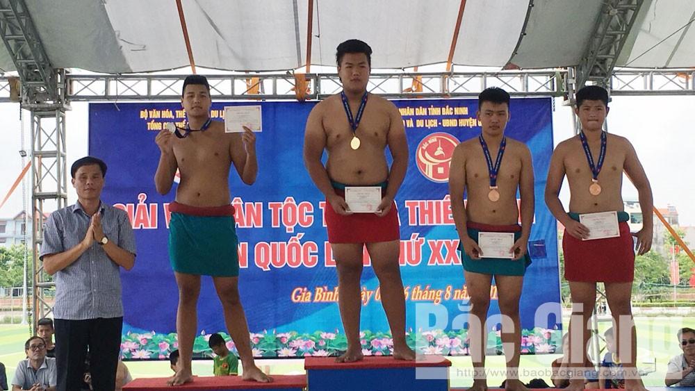 Giải vật dân tộc, Bắc Giang, giành 12 huy chương, Nhì toàn đoàn