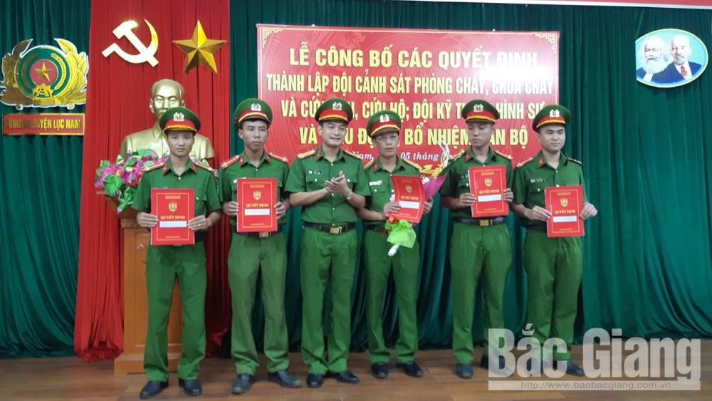lục nam, đội kỹ thuật hình sự, phòng cháy, chữa cháy, Công an Lục Nam