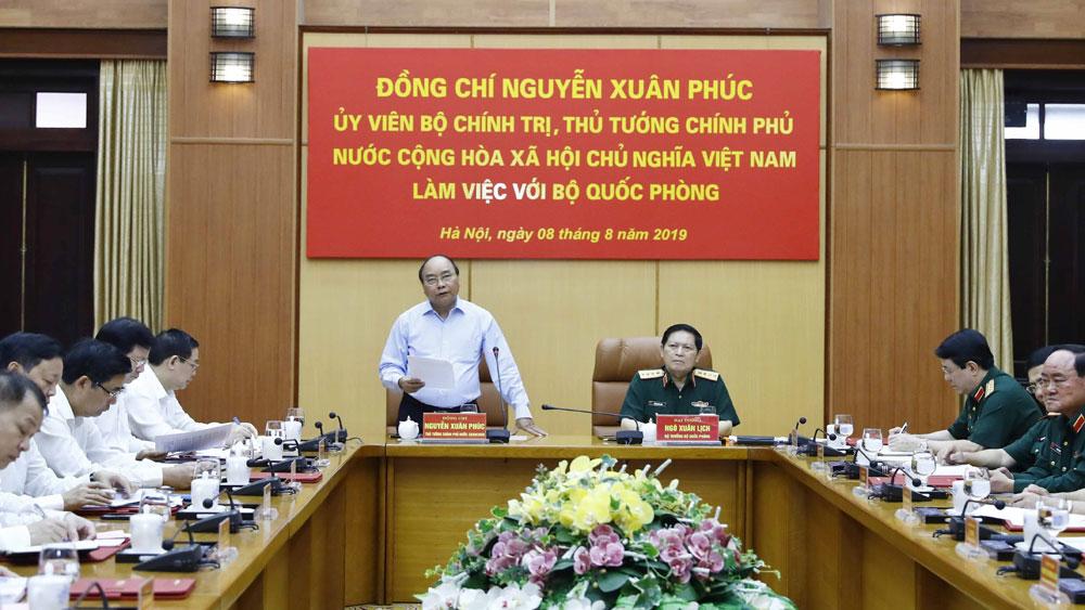 Thủ tướng Nguyễn Xuân Phúc làm việc về công tác quản lý, sử dụng đất quốc phòng