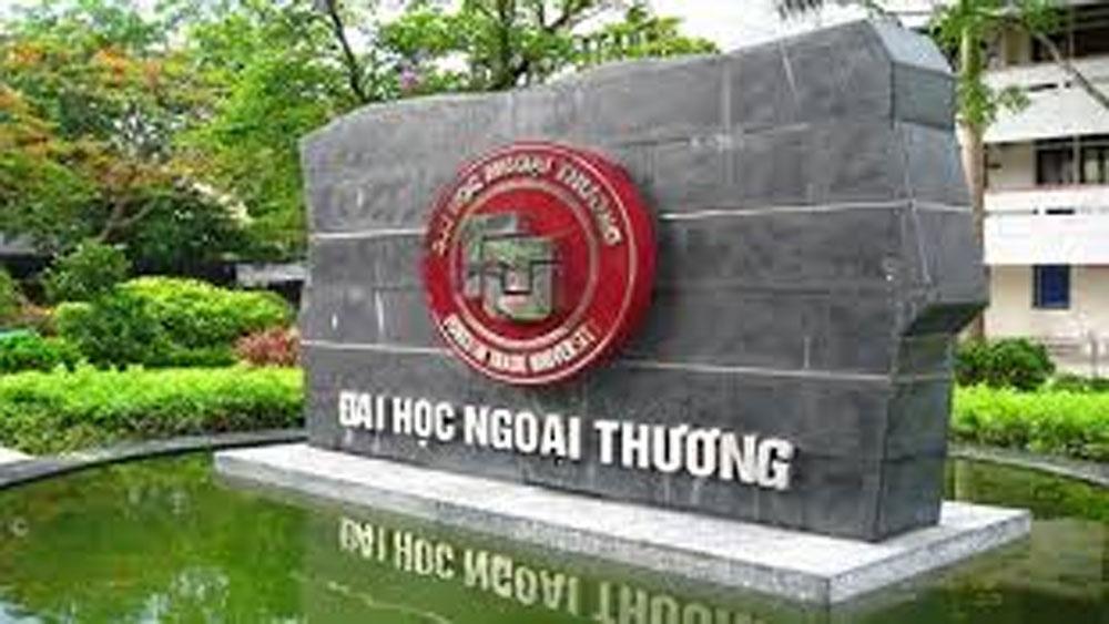 Trường Đại học Ngoại thương, công bố điểm chuẩn năm 2019,