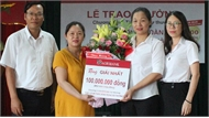 Agribank Chi nhánh tỉnh Bắc Giang: Trao thưởng cho khách hàng trúng giải khuyến mại