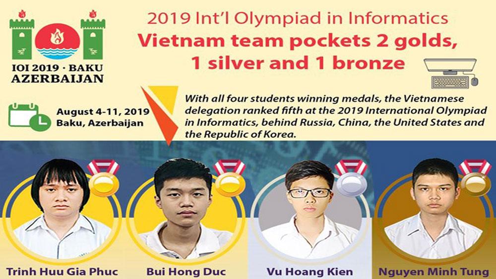 Vietnam pockets 2 golds at Informatics Olympiad