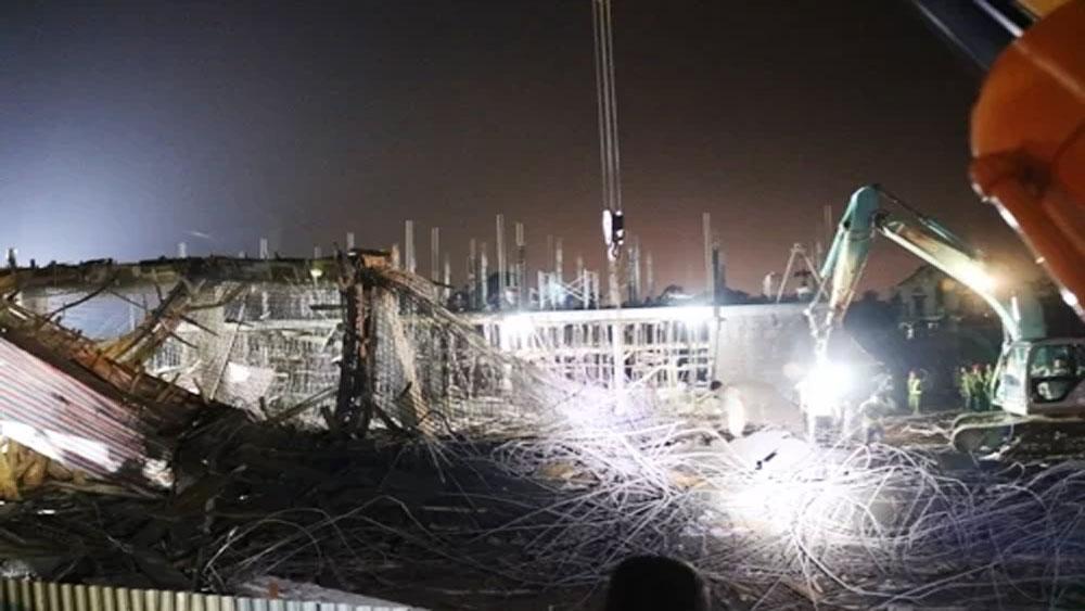 Khởi tố, vụ án sập giàn giáo xây dựng, vùi lấp 8 công nhân, Công an huyện An Dương, sập giàn giáo cây xăng ở xã Bắc Sơn