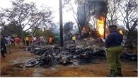 Hôi dầu xe bồn gặp nạn, 61 người bị thiêu cháy