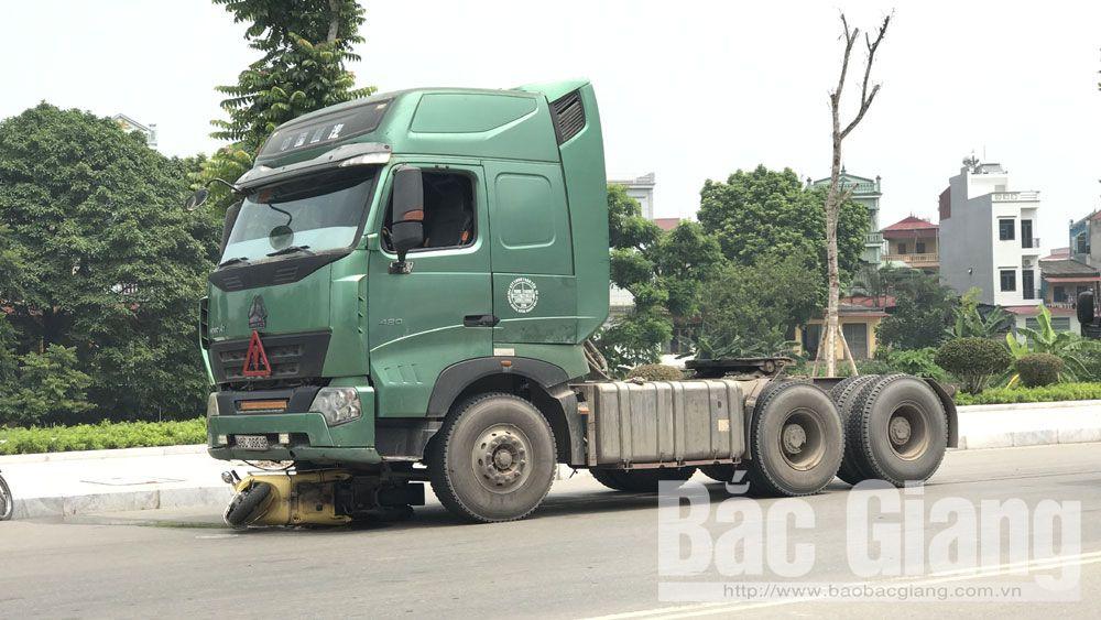 Tai nạn, xe đầu kéo, xe máy, tử vong, TP Bắc Giang.