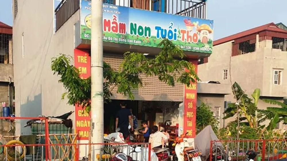 cô Đặng Thị Nết,, Hà Nam, tạm đình chỉ, nhóm trẻ, lớp mẫu giáo, 3 trẻ bị bỏng, giờ giáo dục kỹ năng sống, cô Nguyễn Thị Khoát,