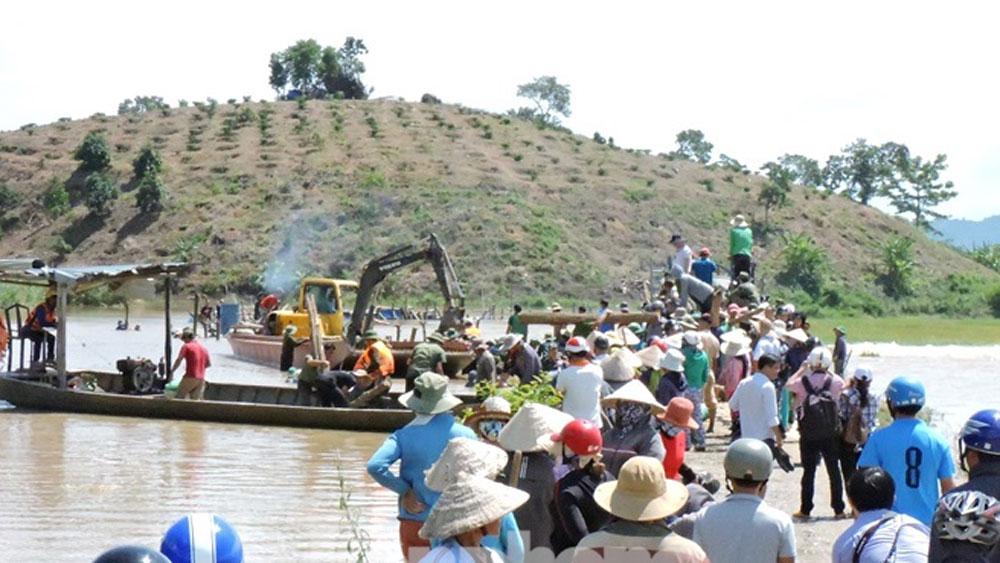 Đắk Lắk, vỡ đê bao Quảng Điền, hơn 1.000 ha lúa, ngập trong nước, sông Krông Ana