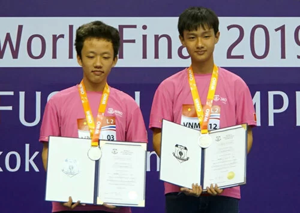 Vietnam, medals, World Math-fusion Olympiad 2019, Vietnamese contestants, outstanding results, globally recognised mathematics contest