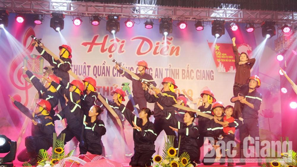 Công diễn các tiết mục xuất sắc nhất Hội diễn nghệ thuật quần chúng Công an tỉnh Bắc Giang