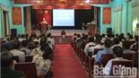 Lục Nam nâng cao năng lực cho cán bộ làm công tác giảm nghèo