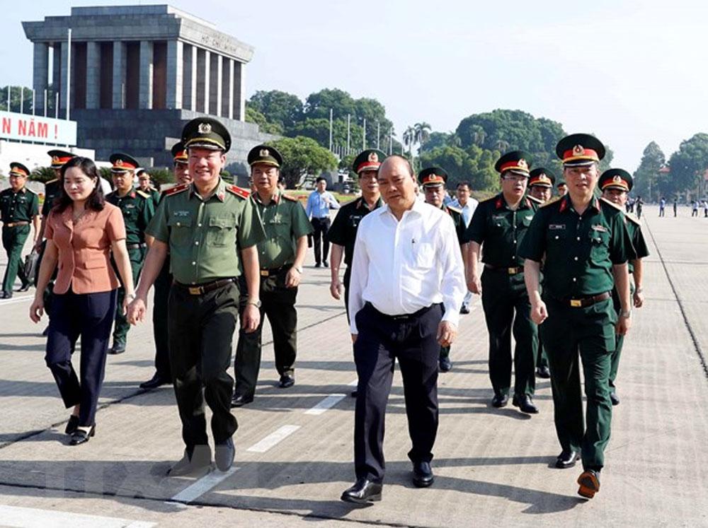 Thủ tướng Nguyễn Xuân Phúc, kiểm tra, công tác tu bổ, Công trình Lăng Chủ tịch Hồ Chí Minh