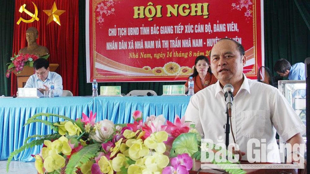 Tân Yên, chủ tịch UBND tỉnh Nguyễn Văn Linh, tiếp xúc nhân dân, cán bộ không chuyên trách