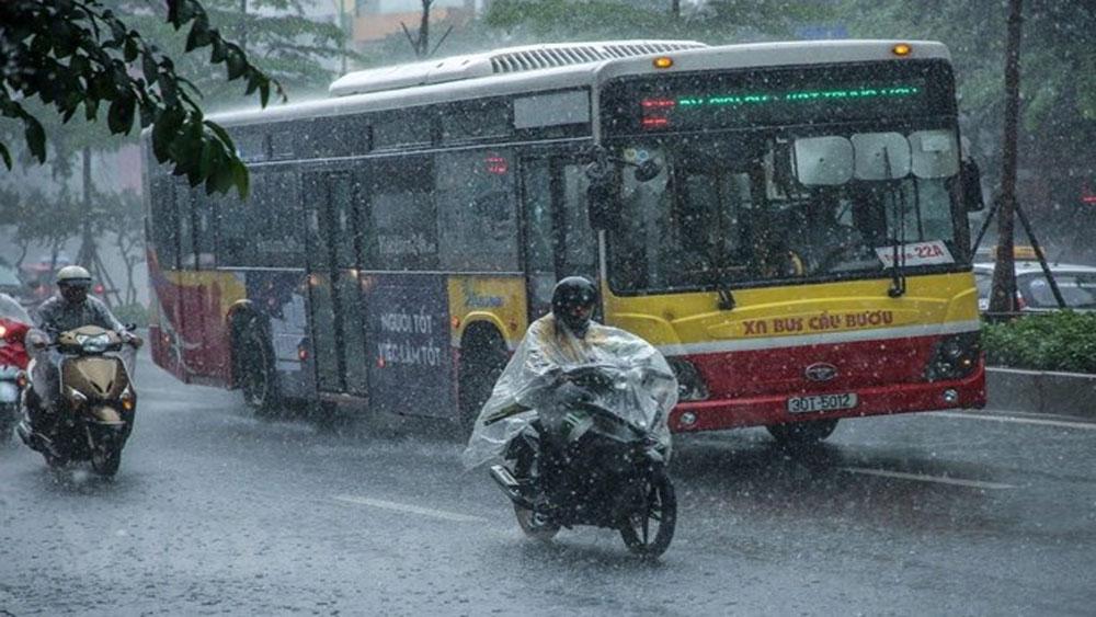 Trong ngày 15-8, Bắc Bộ có thể giảm nhiệt do có mưa dông mở rộng
