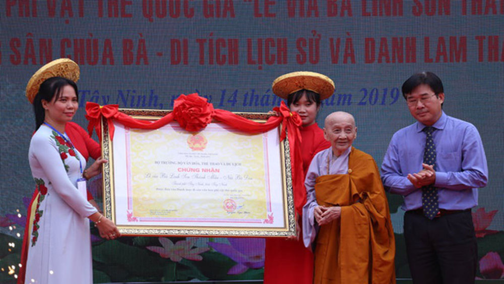 Linh Son Thanh Mau festival, national intangible cultural heritage, Tay Ninh province, Mother Goddess of the Mountain, mother goddess worshipping