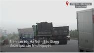 Ôtô đi ngược chiều trên cao tốc Hà Nội – Bắc Giang