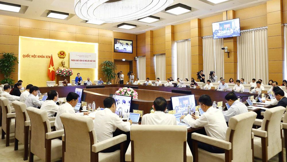 Phiên họp thứ 36, Ủy ban Thường vụ Quốc hội, bắt đầu, phiên chất vấn, trả lời chất vấn