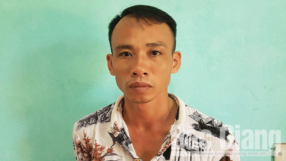 Trộm cắp xe máy; Lục Nam; tiền án, Công an huyện Lục Nam