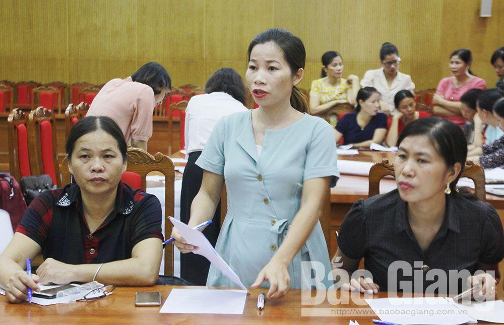 Bắc Giang, hoạt động giám sát, phản biện xã hội, các cấp hôi liên hiệp phụ nữ tỉnh Bắc Giang