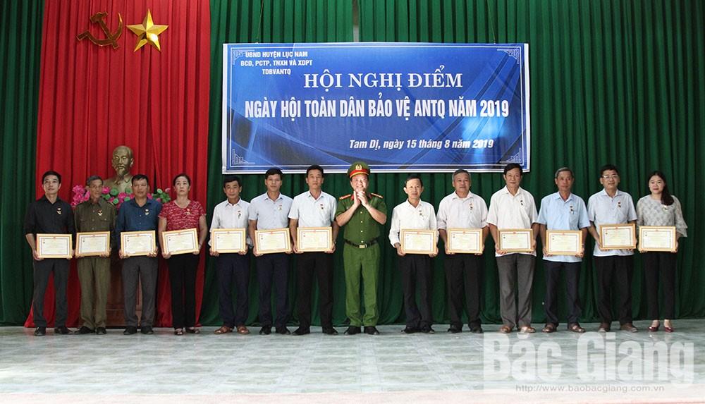 Lục Nam, tổ chức, Hội nghị điểm, Ngày hội, toàn dân, bảo vệ, an ninh tổ quốc, năm 2019
