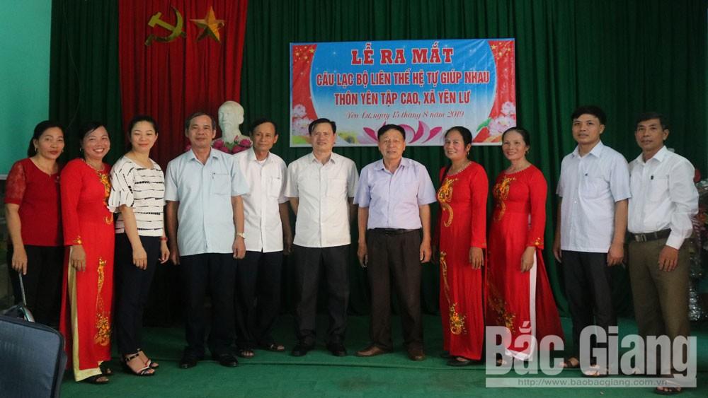 Yên Dũng ra mắt Câu lạc bộ Liên thế hệ tự giúp nhau