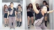 Nam thanh niên bị ba cô gái đá ra khỏi thang máy