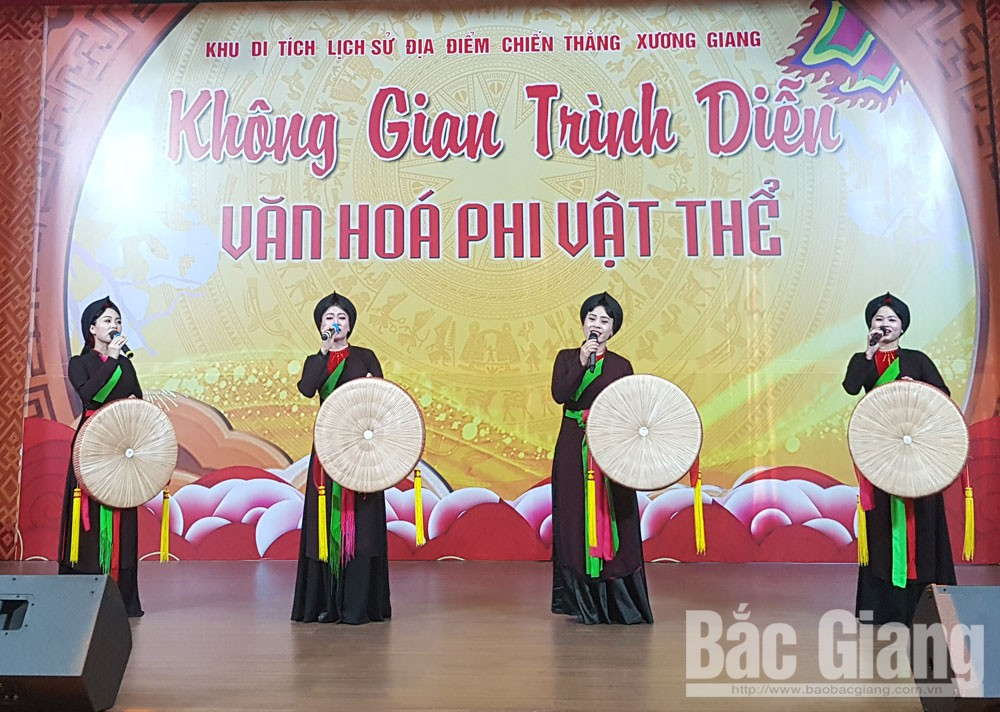 Bac Giang province, art show, Xuong Giang Victory Relic Site, great contribution, various art form, signature cultural identity