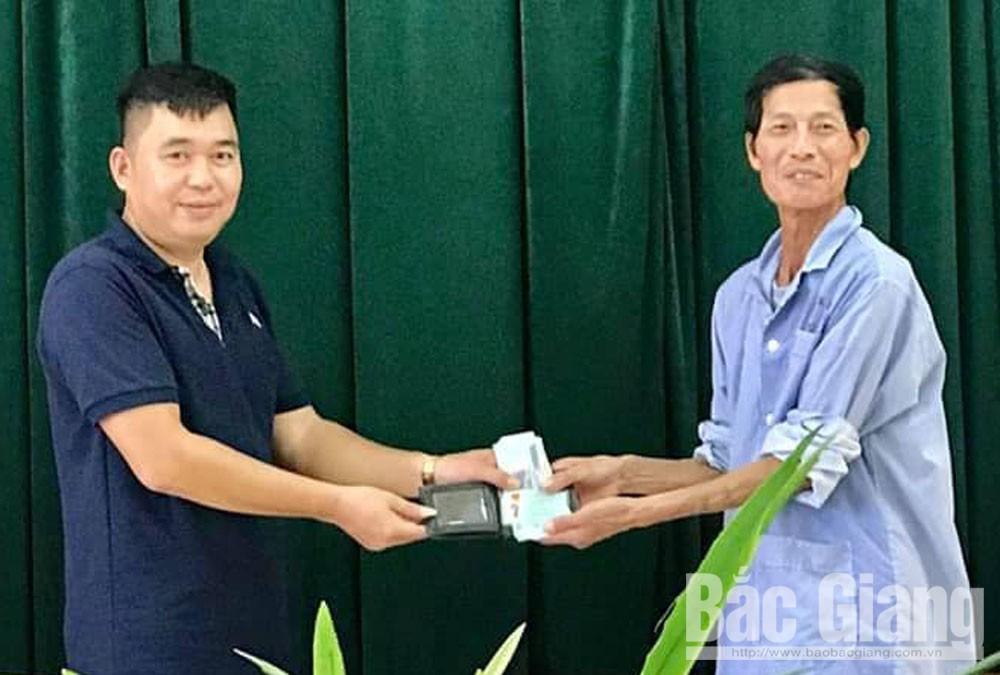 nhặt của rơi trả người, Bệnh viên Ung bướu, TP Bắc Giang