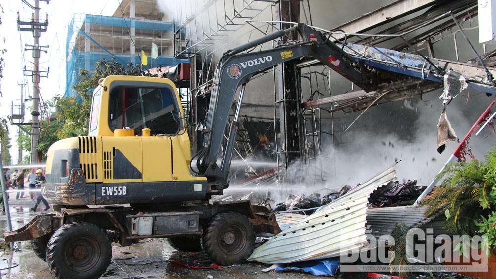 Cháy, siêu thị 90k; TP Bắc Giang,