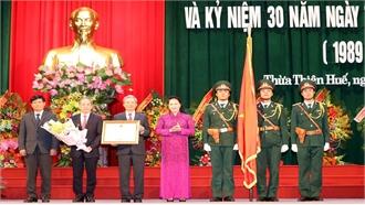 Chủ tịch Quốc hội Nguyễn Thị Kim Ngân dự Lễ Kỷ niệm 30 năm Ngày tái lập tỉnh Thừa Thiên Huế