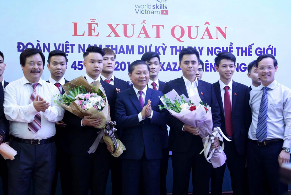 Vietnam, 19 contestants, WorldSkills competition, Kazan, young professionals, labour productivity