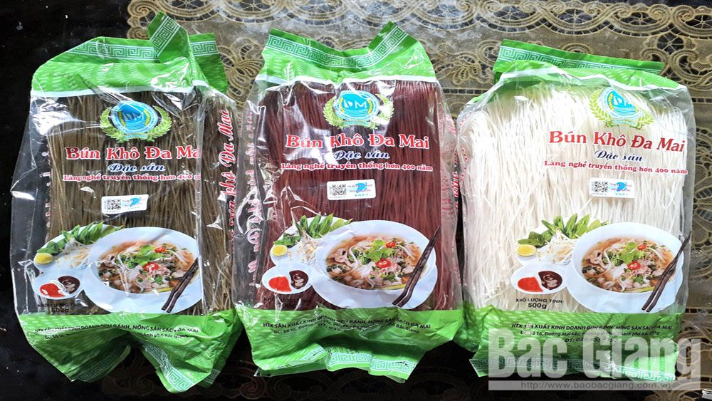 Da Mai ward, craft village products, Bac Giang province, famous dish,  dried vermicelli, Da Mai Production and Trading Cooperative, good quality,  OCOP standard