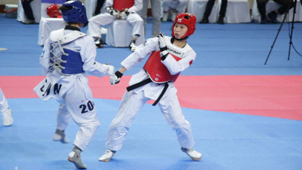 Kim Tuyen wins gold at Asian Open Taekwondo Championship