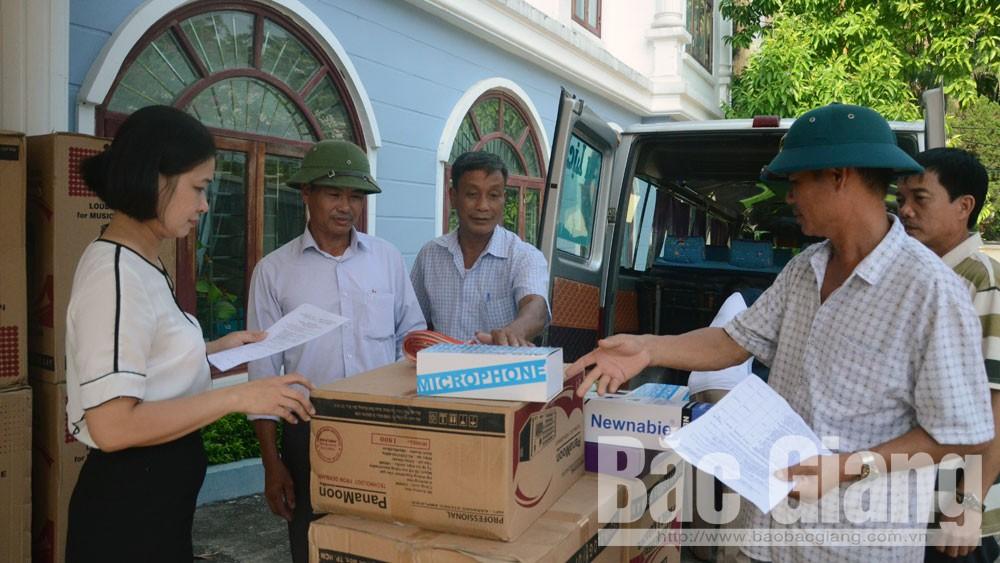 Bắc Giang, trao tặng, trang thiết bị, nhà văn hóa