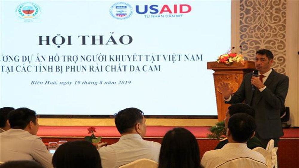 USAID-funded project, people with disabilities, Dong Nai province, Vietnamese competent agencies, war consequence settlement