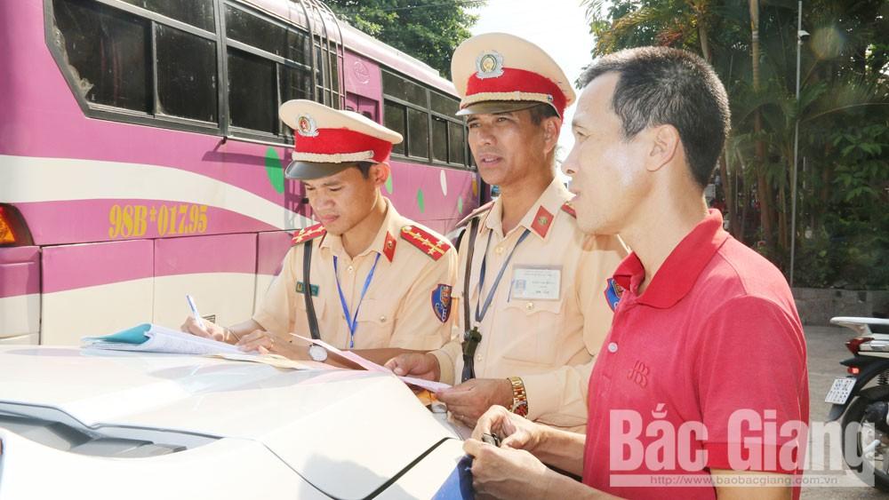 Bắc Giang, sử dụng rượu, bia, lái xe,  phương tiện giao thông